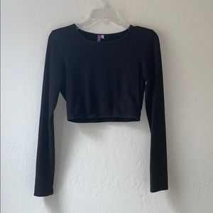 LF Emma and Sam black cropped long sleeve